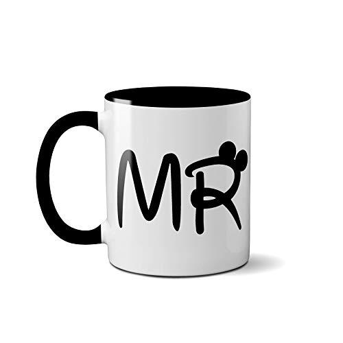 Mr and Mrs - Tazas de cerámica personalizadas para regalo de boda o aniversario, cerámica, Mr.