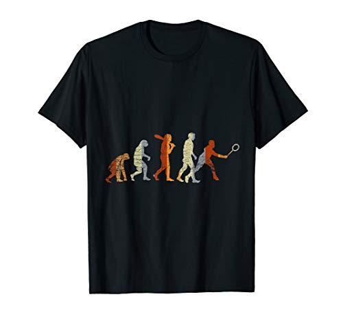 Federballspieler Evolution Badminton T-Shirt