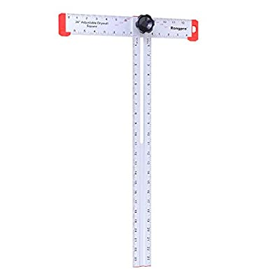 Rongpro 24inch Adjustable T-Square Measuring tools layout tools Aluminum Drywall A-Square