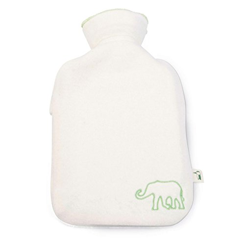 Grünspecht 640-00 Bio-Kinder-Wärmflasche mit Bezug, 0.8 l, Naturkautschuk, beige