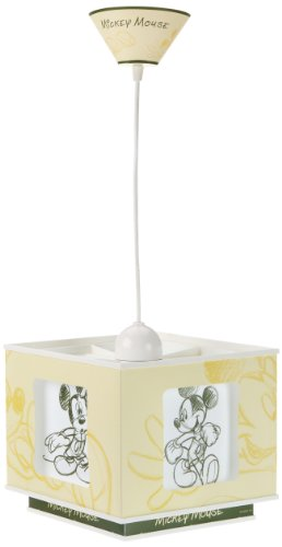 Dalber 63712 - Lámpara para habitación infantil, diseño de Mickey Mouse