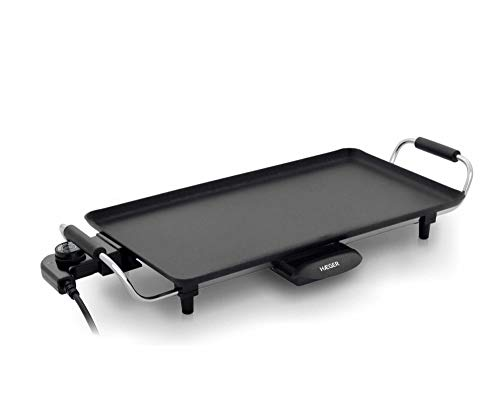 HAEGER Elektrogrill zum Grillen Baking Plate 200 W 460 x 260 mm Elektrogrill, 5 Temperaturstufen