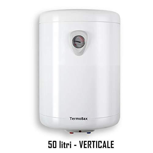 SCALDABAGNO elettrico scalda acqua boiler scaldino lt 10 30 50 80 100 litri VERTICALE-ORIZZONTALE. Termobax (50 litri VERTICALE)