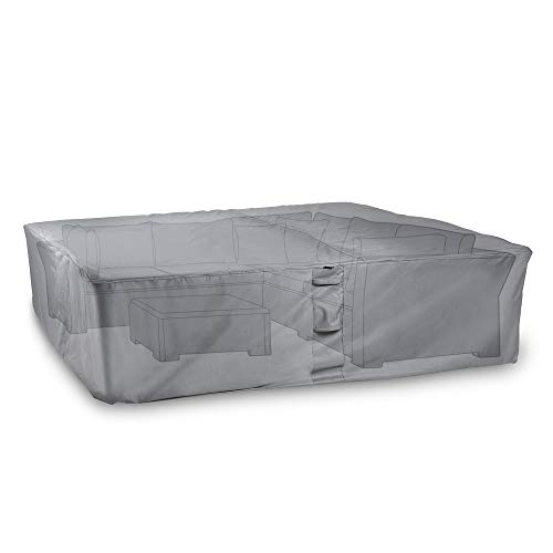 VonHaus Waterproof Garden Furniture Set Cover - 'The Storm Collection' Premium Heavy Duty Breathable Fabric Protection for Patio & Outdoor Furniture (L250cm x D200cm x H85cm) - Slate Grey