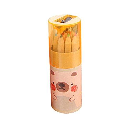 Kentop Buntstifte Farbstifte Set Kinder Mini Buntstifte 12 Farben Buntstifte Dose Mit Spitzer für Klein und Groß zum Malen, Ausmalen, Skizzieren