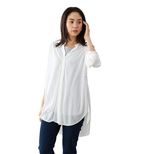 (コムサ イズム) COMME CA ISM 【セットアイテム】 シアーシャツ × タンクトップ 12-36CT02-201 L ホワイト