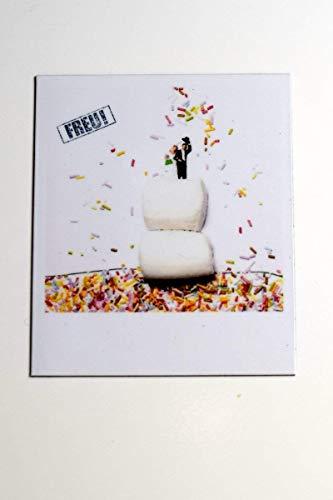 Cooler Magnet für Kühlschrank | Hochzeit Torte Freude Party Liebe Feiern