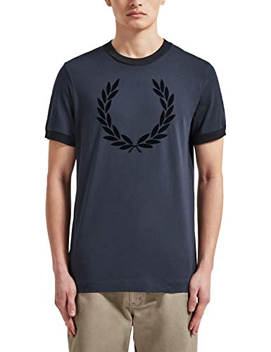 Fred Perry M5591 T-Shirt Uomo Blue S
