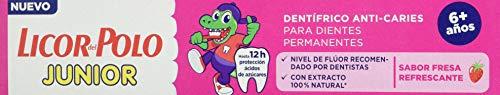 LICOR DEL POLO Junior pasta dentífrica fresa +6 años tubo 75 ml