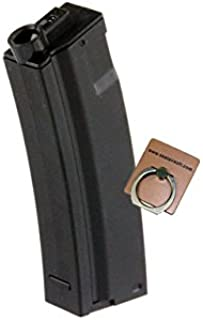 CYMA 65rds Mid-Cap Magazine for MP5 MP5K Marui Classic Army G&G Airsoft AEG -Mobile Ring Included