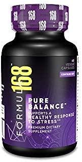 Thyroid & Adrenal Support - Pure Balance - Horny Goat Weed, Ashwagandha Powder, Magnesium, Selenium, B Vitamins, Maca Root, Shilajit| Edge Booster | Cortisol Manager Non-GMO