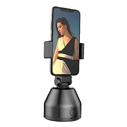 NiceJoy cámara del teléfono móvil PTZ Ajustable estabilizador de rotación de 360 ??AI rostros Inteligente cámara PTZ de Seguimiento Negro PTZ estabilizador