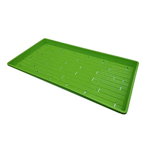 Bootstrap Farmer Microgreen 1020 Trays, Green 10 Pack, Extra Strength with Holes Shallow Seed Plant Tray Grow Microgreens Wheatgrass Fodder Sprouting