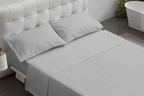 Burrito Blanco Juegos de sábanas hostelería Gris, algodón T12