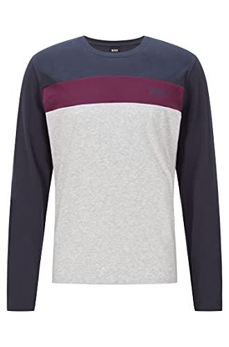 BOSS Balance LS-Shirt RN Camiseta de Manga Larga, Dark Blue403, XXL para Hombre