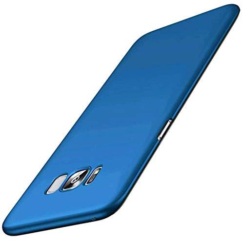 Yoowei Cover per Samsung Galaxy S8 Plus / S8+, Ultra Sottile Piena Protezione PC Shell Duro Retro Custodia per Galaxy S8 Plus / S8 +, Tocco serico - Blu