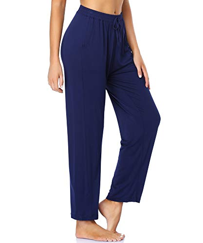 ASIMOON Yoga Pants for Women Comfy Stretch Casual Pants Soft Lightweight Lounge Pants Walking Running Pants with Pocket for Women