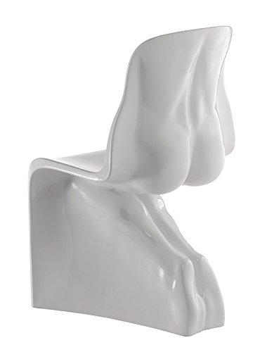 L'Aquila Design Arredamenti CASAMANIA Set 2 sedie Him&Her con Struttura in Bianco Opaco Tinto in Massa