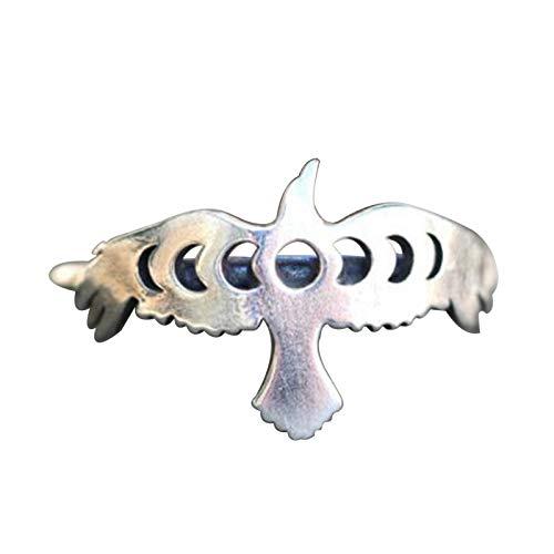 EzzySo Peace Dove Anillo, Personalidad Estadounidense Anillo de Anillo de Animales Simple Joyería de Anillo de aleación (2 PCS),8