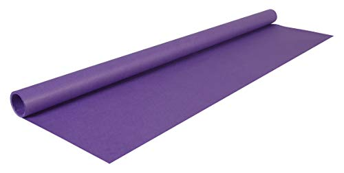 Clairefontaine 95711C Rolle (färbiges Kraftpapier, 3 x 0,70 m, 65 g, PEFC, ideal für Ihre Bastelprojekte) 1 Stück violett