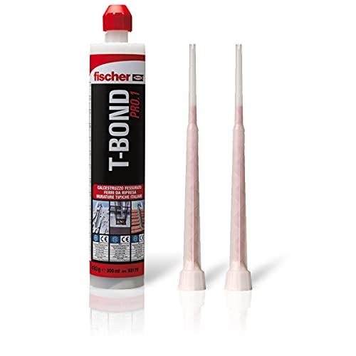 Fischer T-Bond Pro.1, Tassello Chimico in Resina Hybrid, Ancorante ad iniezione Bi-componente Ibrido per Calcestruzzo Fessurato e Muratura, 71778