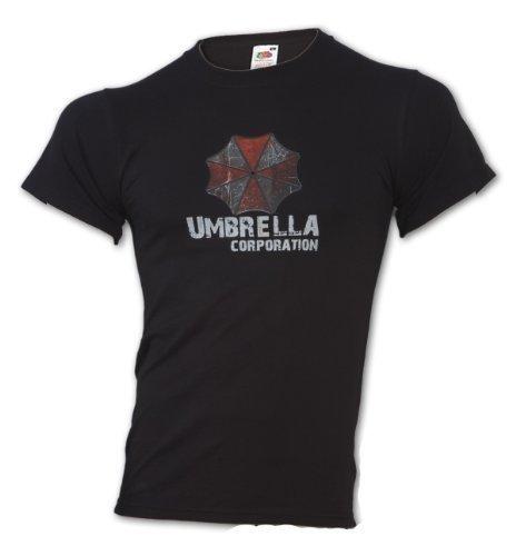 Camiseta T-Shirt - Umbrella Corporation  -mal película juego camiseta de residente - algodón, Negro, 100% algodón 100% algodón, hombre, XL