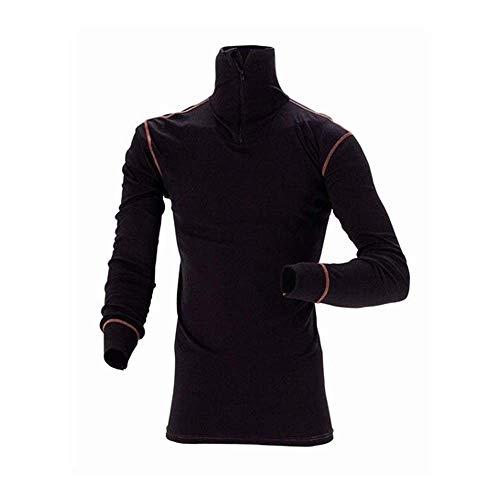 J.A.K. 6002122 Serie 6002 90% Coolmax Active/10% Lycra Coolmax Active - Camiseta interior funcional (talla M), color negro