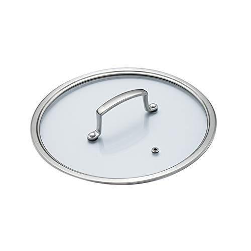 WJFQ Tapa para Sarten Inicio Pan Tapa con asa de Metal de Vidrio Transparente Cacerola Cubierta de sustitución Sartenes Wok Reemplazar Pot Tapas de Cocina (Size : 16CM/6.3inch)