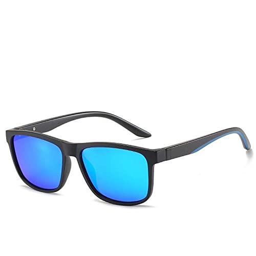 AMFG Hombre HD Polarizer Casual Gafas de sol Gafas de sol de conducción retro (Color : D)