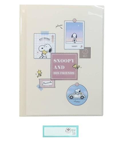 スヌーピー クリアファイル A4 収納 10ポケット SNOOPY ピーナッツ PEANUTS ウォールデコ 当店オリジナルロゴ入り名前シール 2点セット(クリアファイル、名前シール)