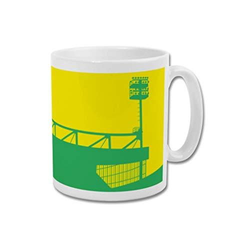 Norwich City FC Graphic Design Football Gift - Print or Mug - Carrow Road'River End' (Mug)
