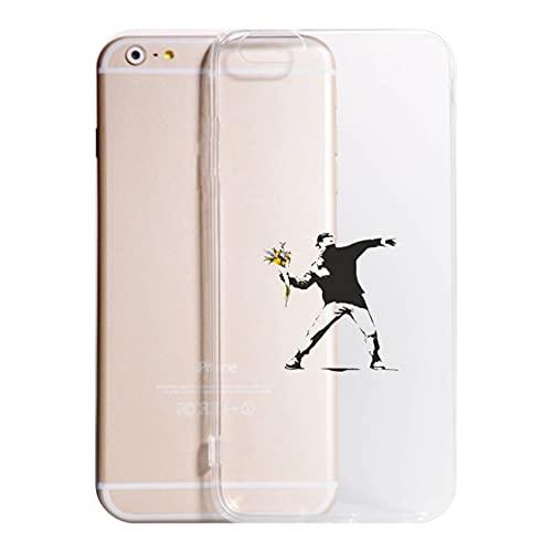 Cover Compatibile Con Tutti i Modelli iPhone - B. FIORI - Trasparente UltraSottili AntiGraffio Antiurto Case Custodia (TRASPARENTE, IPHONE 6 S)