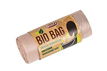 BranQ - Home essential Unisex-Adult Bio Lot de 20 Sacs de Toilette pour Camping Marron 22 l