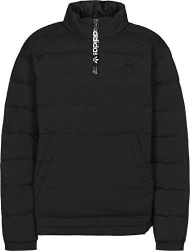 adidas Lightweight Down Overhead - Chaqueta con media cremallera negro S