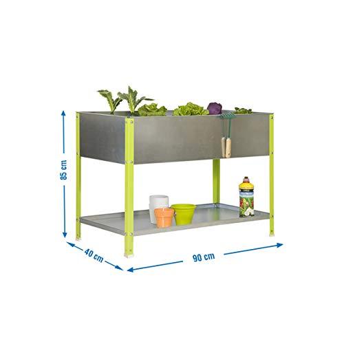 SimonRack Simongarden Urban Top Kit Estantería, Verde y galvanizado, 850 x 900 x 400 mm