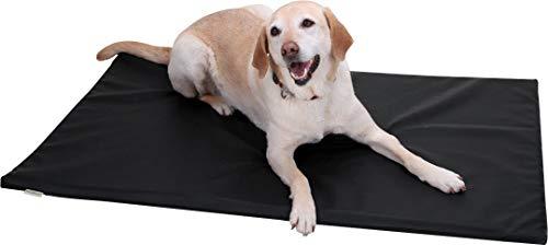 Knuffelwuff 12759 Leder Hundematte Puffin, XL, 105 x 75 cm, schwarz