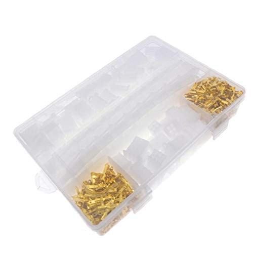 Conectores eléctricos 2.8mm 2 3 4 6 9 terminales de clavija de alambre 580pcs Hombre Mujer Plug Surtido Kit