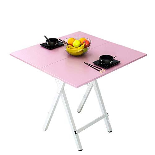 ZXL Multifunctionele enkele klaptafel Draagbaar, Paneel, Duurzame Knoop Selectie van verschillende formaten voor thuis, woonkamer, woonkamer, ronde klaptafel, vierkante tafel (kleur: B, afmeting: S-70cm)