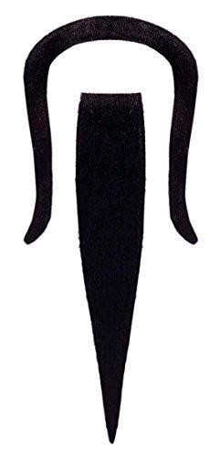 KULTFAKTOR GmbH Chinese Bart Kostüm-Zubehör schwarz Einheitsgröße