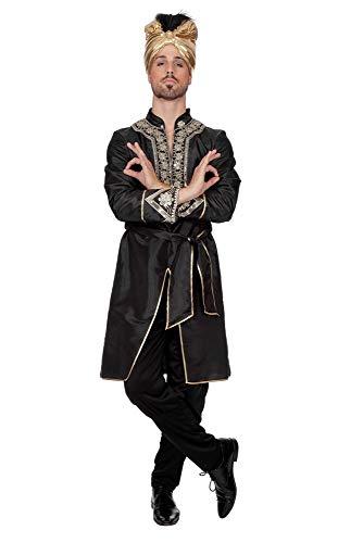 shoperama Bollywood Herren Kostüm Ranjid Inder Sultan Arabischer Prinz Karneval Verkleidung, Größe:48
