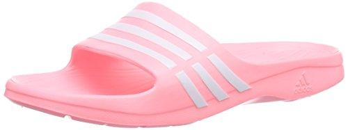 adidas Performance Damen Duramo Sleek Dusch- & Badeschuhe, Pink (Light Flash Red S15/Ftwr White/Light Flash Red S15), 43