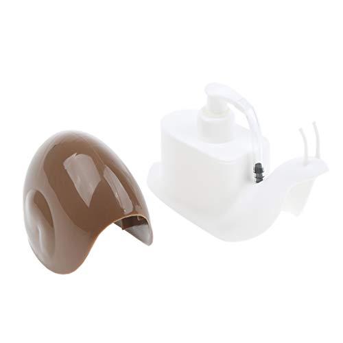 1 Stück Seifenspender Schnecke Form Quetschflasche Seifen- und Lotionspender zusammendrückbar Flüssigkeitsspender - Kaffee, 17.5x7.2x11cm