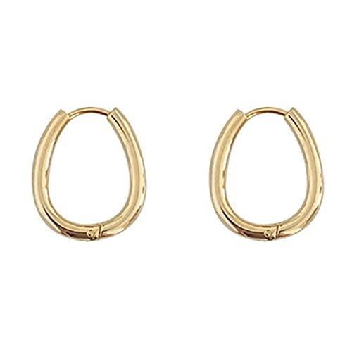 ACEHE Female Earrings,Retro Drop Shape Earrings Metal Ear Buckle Female Earrings Romantic Elegant Accessories(gold)