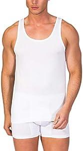 Camiseta Interior de Hombre de Tirantes - Zero Defects - Hilo de Escocia - Color Blanco (Talla M)