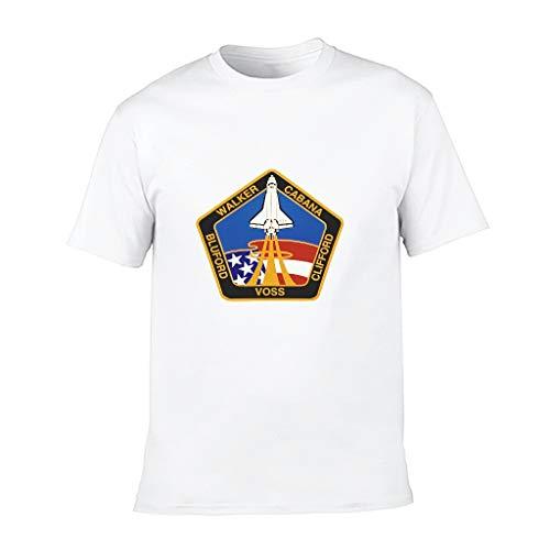 XHJQ88 Kid NASA Baumwolle T-Shirt Slim Fit Rundhals NASA Unterhemden für Athletic Activates Gr. S, weiß