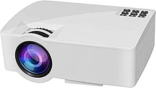 ZHBH Proyector, proyector portátil con Full HD, proyector LED de 800 x 480, HDMI AV VGA USB, para cine en casa, versión Android (color, blanco) (color, blanco), blanco
