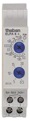 Theben 0060003 ELPA 6 plus elektronische traplicht-tijdschakelaar, geoptimaliseerd voor LED-lampen
