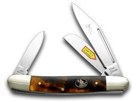 Steel Warrior Imitation Tortoise Shell Stockman Pocket Knife Knives