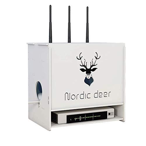 Witte Router Storage Box Woonkamer Desktop Set-top Box Opbergrek Multifunctionele Wifi Box Kantoor Draad Beheer Artifact