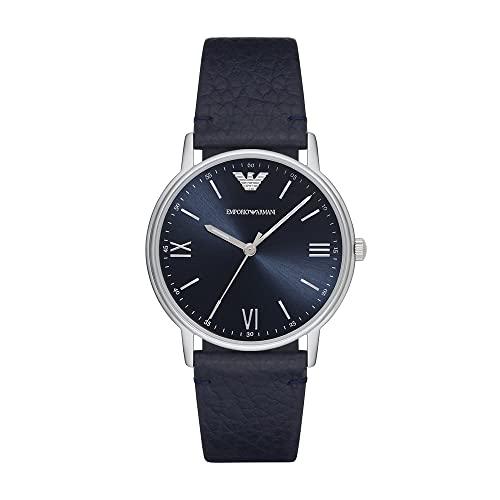 Emporio Armani Reloj Analógico para Hombre de Cuarzo con Correa en Cuero AR11012